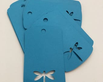 Dragonfly Gift Tag- Blue