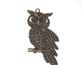 Large openwork and bronze to customize owls