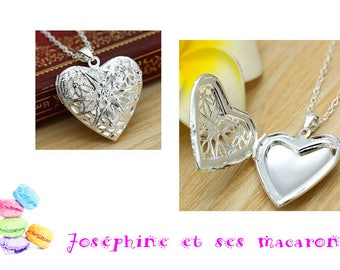 1 Silver Heart Locket necklace