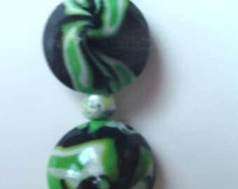 "Pendant ""tornado green"""
