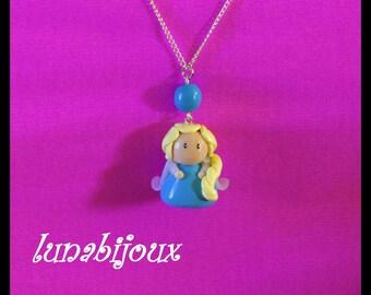 Fimo necklace girl doll birthday jewelry gift jewelry