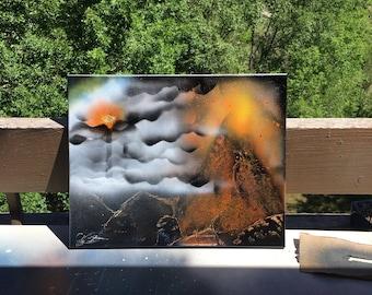 Mt. Doom on Canvas