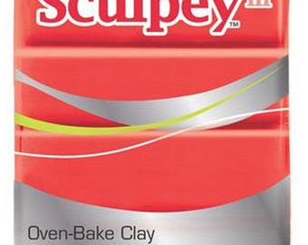 57 Gr bright red REF/583 sculpey clay