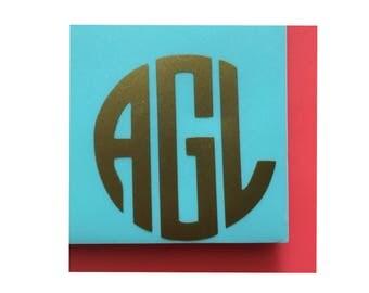 Monogram Vinyl Intial