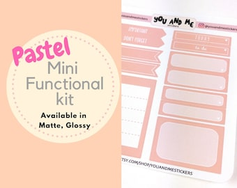 Functional Kit | Weekly Kit | Planner Stickers | Pastel Stickers | Pastel | Erin Condren | Happy Planner | BS39