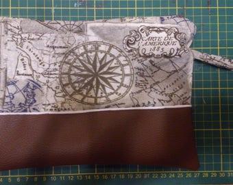 Tote pouch treasure map