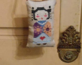 Embroidered handbag - China Doll pillow