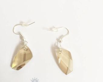 swarovski crystal golden shadow Crystal earring