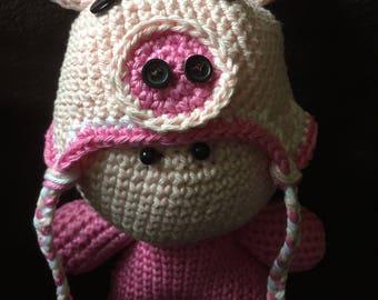 Crochet Amigurumi Doll Piggy