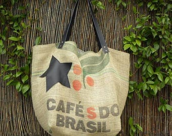 Shopping bag XXL size made of real coffee bag