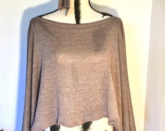 Beautiful Cotton Blend Hand Made Poncho
