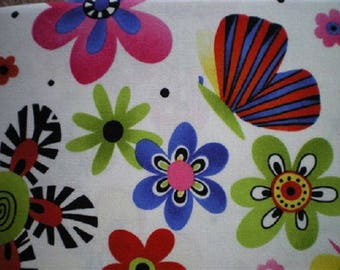 fabric flowers and butterflies patchwork naive refpartyfleur
