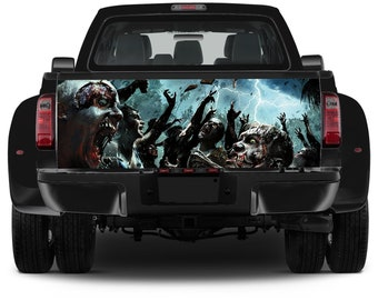 Truck Tailgate Graphics Zombie Apocalypse Vinyl Decal Full Color Sticker Wrap