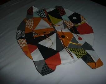 Pie bag round patterned geometric
