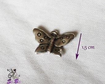 1.5 cm silver plated Butterfly charm