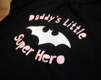 Daddy's Little Super Hero T-shirt