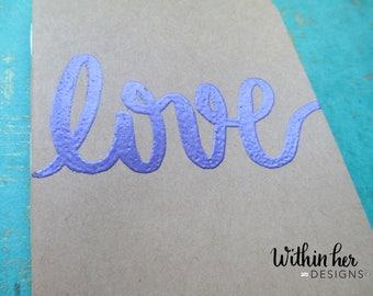 Positive Word Embossed Journal-Love-Notebook