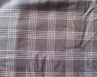fabric Plaid Brown and ecru