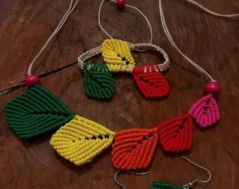 Leave colourful set