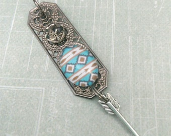 pendant for men 'Navajo' metal Native American spirit, gift idea for men