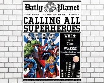 Super hero birthday   Etsy