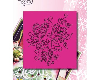 Nellie 3 hearts 9 x 11 cm_LD018 grid