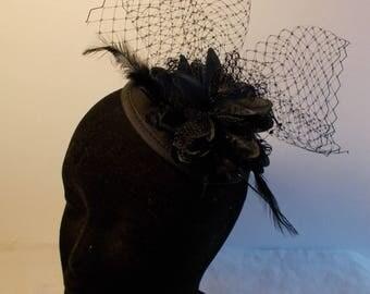 Bibi veil black flower wedding ceremony