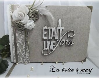 "Guest book shabby chic ""once upon a time"""