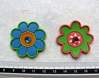 Set no. 1-2 flowers made of rubber