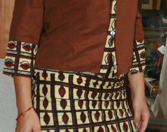 Ethnic Mandarin collar shirt