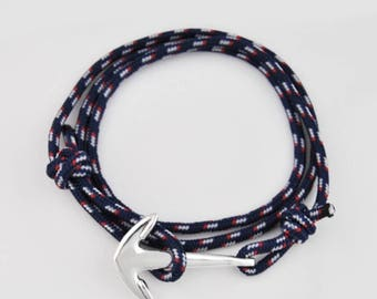 Sailor bracelet with anchor without clasp (free shipping)