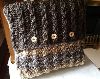 Handmade Knitted Cushion Cover