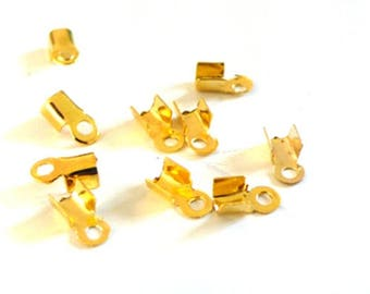 20 caps rope gold tone pinch 6mm