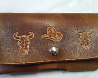 country style leather cell phone case