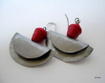 Red Crescent Earrings