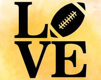 Football love, Football ball SVG, DXF, PNG Cutting files for Cutting machines, Cricut explore, Silhouette cameo, Design, Instant Download