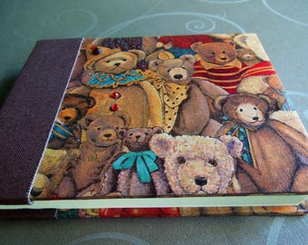 Red Brown toned Teddy notebook