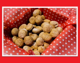 Peanut Butter Banana Snaps Dog Treats