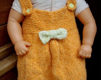 baby dress orange and pistachio Green 0/3 months
