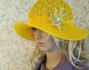 Openwork hat, Lace hat, sammer hat