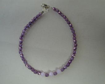 Purple faceted Beads Bracelet