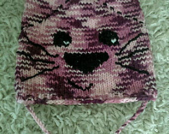 Embroidered purple ombre cat Hat