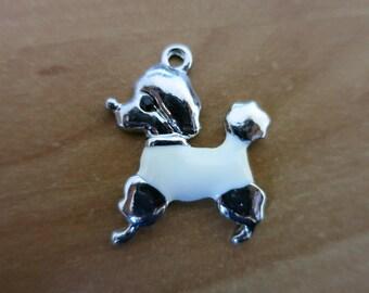 White poodle charm