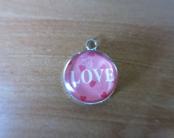 Love charm magnifying glass cabochon