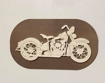 Vintage Style Motorcycle Wall Plaque