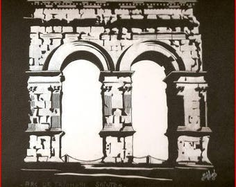 'Arc de triomphe of the Holy City' on canson paper