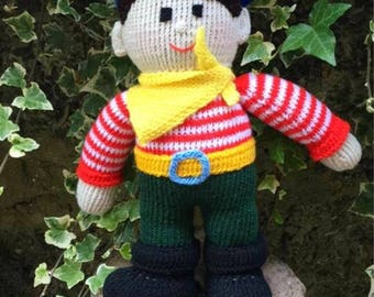 Knitted Pirate, Knitted toys, Jean Greenhowe designs, Jean Greenhowe