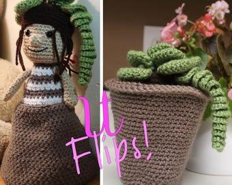 Cute Crochet Plant Tospy Turvy Doll
