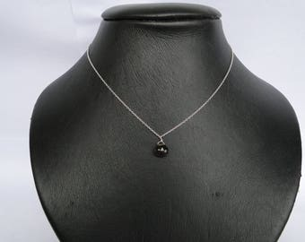Necklace 925 sterling silver and smoky Quartz drop shape stone