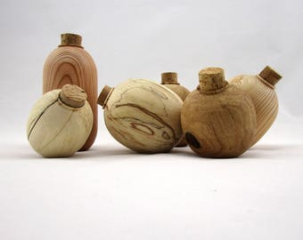 Small wooden vase, decorative vase, wood container, design vase, wood vase, modern vase, wood centerpiece, turned vase